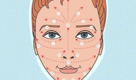 Массажные линии лица: как делать массаж лица в домашних условиях