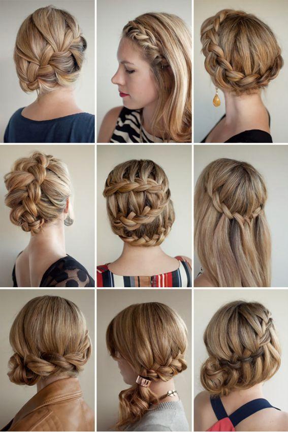 Причёски с косами на средние волосы своими руками