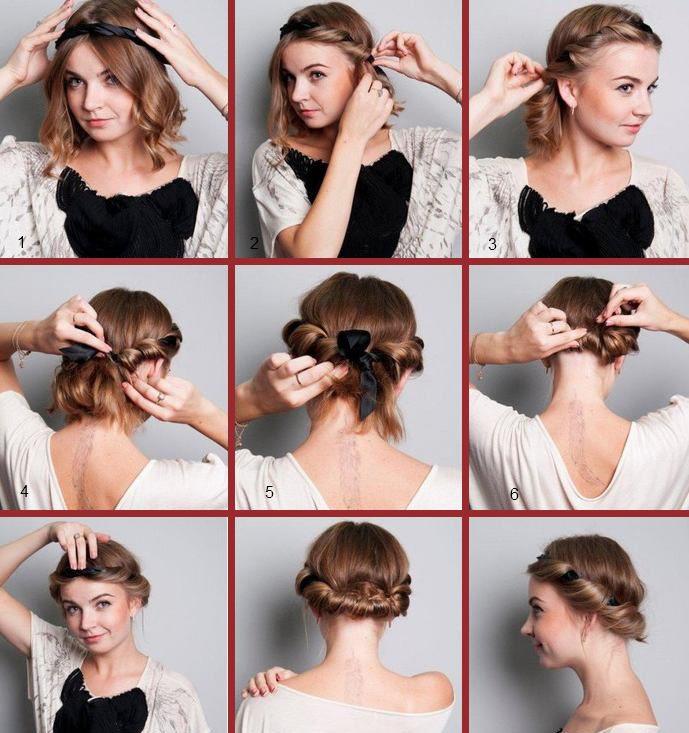 Причёски на средние волосы на каждый день с чёлкой