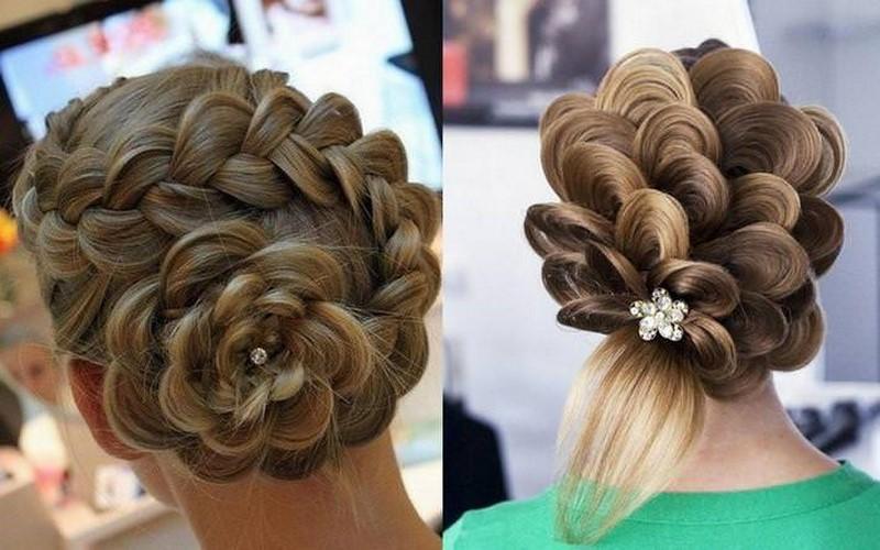 Прически на средние волосы колоски